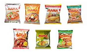 Mama Instant Noodle Tom Yum,Creamy Tom Yum,Chicken,Pork,Green Curry,Duck Flavour