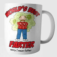 Funny Fart Dad Stepdad Birthday Fathers Day Christmas Gifts World's Best Farter