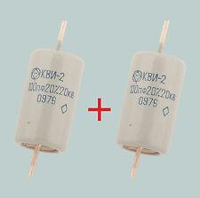 100 PF 20 kV lotto di 2 RUSSO condensatori ceramici ad alta tensione KVI-2 (КВИ-2)