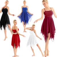 Lyrical Women Chiffon Ballet Dance Dress Ballroom Contemporary Latin Costume