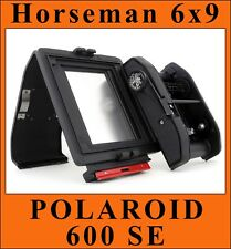 Horseman 6x9 Roll Film Holder for Polaroid 600 SE.Fits without G or M - Adapter.