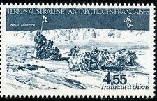 TIMBRE T.A.A.F. TERRES AUSTRALES NEUF PA N° 74 ** TRAINEAU A CHIENS COTE 5,40 €