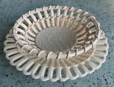 Circa 1900 small oval WEDGWOOD creamware Basket with Platter