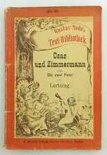 Buch: Gustav Mode`s Text Bibliothek Czar und Zimmermann e1171