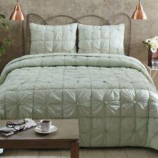 VHC brands 3 piece quilt bedding set CAMILLE MINT  TWIN QUEEN