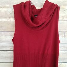 Takeout Womens Sweater Maxi Dress Cowl Neck Sleeveless Red Size Large
