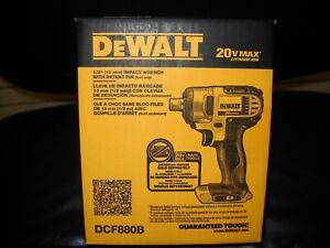 "DEWALT DCF880B 20V MAX Cordless Li-Ion 1/2"" Impact Wrench New in BOX"