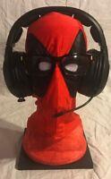 DEADPOOL COMIC STAND REST HEADPHONES XBOX BOSE HEADSET & GLASSES DISPLAY HOLDER