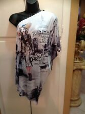 Off The Shoulder Girl Print Top Size Small