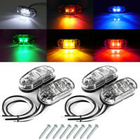 LED Side Marker Light White Lamp 12V 30V Car Truck Van Trailer Boats Side Lights