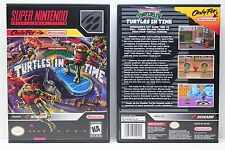 Teenage Mutant Ninja Turtles IV Turtles In Time - NO GAME - SNES Custom Case