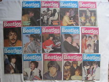 THE BEATLES MONTHLY - A BUNDLE OF 14 DIFFERENT ISSUES 1983/4/6. EXCELLENT CONDTN