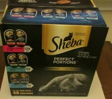 Sheba Perfect Portions Cuts in Gravy Entrée Wet Cat Food Seafood Salmon Tuna