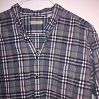 Burberry Brit Designer Check Men's Long Sleeve Shirt