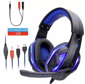 Gaming Headset Wired Headphones PC Headphone Headband Stereo Gaming Earphone Wit
