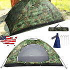 Outdoor Camping Waterproof 2 Person Folding Tent Camouflage Hiking Family Travel
