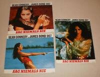 3 AHF Aushangfotos,SAG NIEMALS NIE,JAMES BOND, 007, SEAN CONNERY