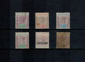 ZULULAND QV STAMP SELECTION VALUES TO 3d INCLUDING OVERPRINT MINT HINGED & USED