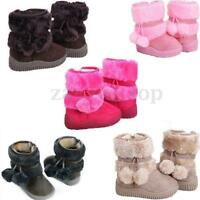 Süße Kinder Baby Mädchen Jungen Winter Schuhe Winterstiefel Boots warm gefüttert