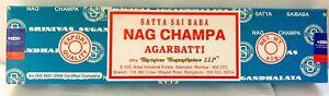 Satya Nag Champa Incense Sticks Blue Box Pick 15 40 100 250 gms - Fresh Stock !!