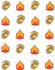 Marine Sargent Patch Waterslide Nail Decals/ Nail Art