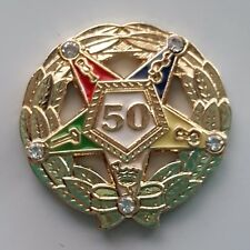 ORDER OF EASTERN STAR 70 YEAR SERVICE AWARD lapel pin gold
