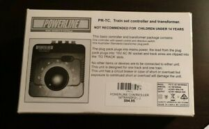 POWERLINE HO/OO & N SCALE PR-TC2 TRAIN SET CONTROLLER AND TRANSFORMER USED