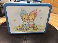 "Vintage Hallmark Picnic Scene 9x7x4"" Thermos Lunch Box"