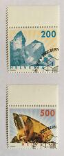 2 timbres suisses YT CH1732/1733, Zum:CH 1065/1066 oblitéré 1er jour Minéraux
