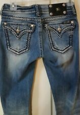MISS ME JEANS RHINESTONE EMBELLISHED POCKET BOOTCUT WOMENS 26 X 33