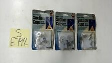 Adams Small Suction Cups with Hooks LOT OF 3 PACKS (Total of 12 Hooks)
