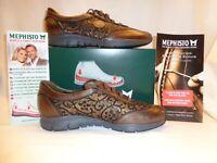 "NIB Women's Mephisto "" YAEL"" Comfort Sneaker Shoes Size 10 in Copper Color"