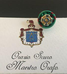 Rosetta Cavaliere Ordine al Merito della Repubblica Italiana in argento 925