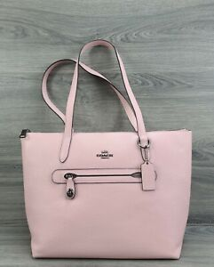 Coach Tote Large Pebble Leather Taylor Handbag 38312 (Blush Pink)