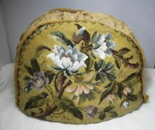More details for large vintage antique beaded beadwork floral tea cosy