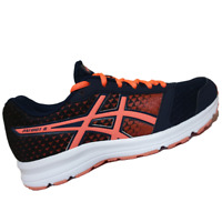 ASICS WOMENS Shoes Patriot 8 - Dark Navy, Flash Coral & White - T669N-5806