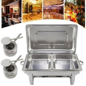 9L Chafing Dish Speisenwärmer Edelstahl Warmhaltebehälter Rechaud Wärmebehälter