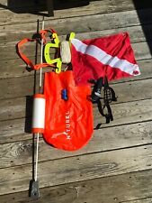 Scuba Snorkeling Bag Inflatable W/ Weighted Bouy Flag,rope And Knife With Strap