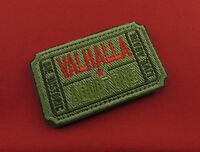 Bundle-PVC Rubber-YN1 Ticket to Valhalla Admit One Vikings See You Valhalla Punisher Hook Patch