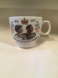 Vintage The Queen's Silver Jubilee Tea Cup 1952 - 1977 Elizabeth II Royal