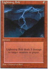 1x Lightning Bolt Heavy Play, English 4th Edition MTG Magic
