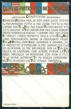 Militari WWI Propaganda Bandiere Flag Lega Seminatrici Coraggio cartolina XF0409