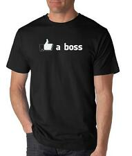 LIKE A BOSS T-Shirt funny facebook the lonely island meme college seth rogan