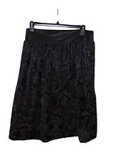 REQUIRMENT BLACK FLORAL SKIRT SIZE LARGE POLYESTER NWT