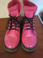 A LOVELY PAIR OF PINK GOLDDIGGA BOOTS SIZE 5