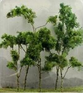 "JTT Scenery Products 95617 - HO Scale - Woods Edge Trees Green 3"" - 3.5"" 9/pk"