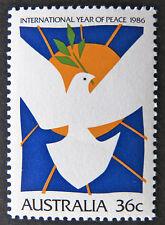 Australian Decimal Stamps:1986 International Year of Peace - Single - MNH