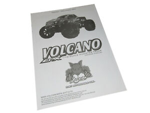 Redcat Volcano EPX Pro 4x4 Brushless Truck Owners Manual with Exploded Views