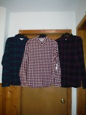 Long Sleeve Button front Men's Shirts size XXL Old Navy Multi Color Plaid  NWT