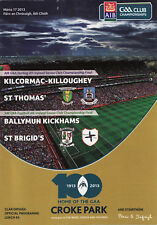 GAA 2013 All-Ireland Hurling & Football Club Final Programme